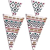 Gorgeous Large Designer Style Aztec Ethnic Triangle Dangle earrings