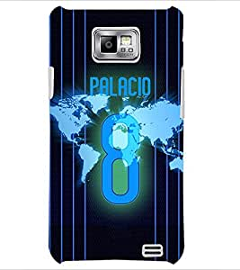 PrintDhaba Number 8 D-3915 Back Case Cover for SAMSUNG GALAXY S2 (Multi-Coloured)