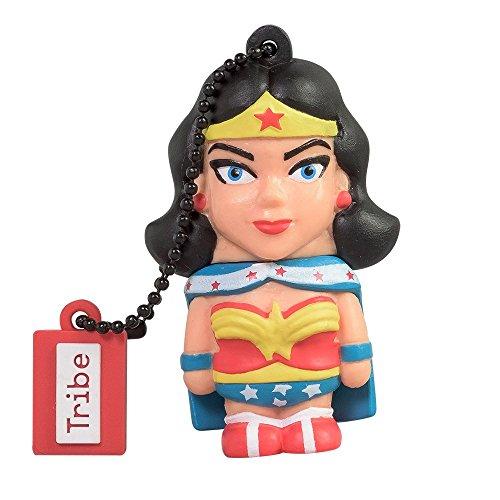 Tribe FD031503 DC Comics Warner Bros. Pendrive 16 GB Simpatiche Chiavette USB Flash Drive 2.0 Memory Stick Archiviazione Dati, Portachiavi, Wonder Woman