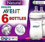 Philips Avent Biber�n de 260�ml, a partir de1�mes, antic�licos, sin BPA, 6 unidades