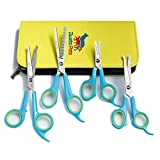 [SAVE 40% OFF] ZIWETO PETS Premium Quality Grooming scissors set of 4 pieces for dogs and cats with rounded tips (For Body, Face, Ear, Nose, Paw)