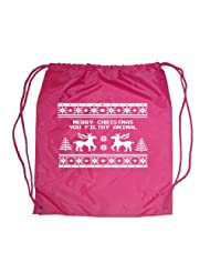 Festive Threads Christmas Drawstring Raspberry