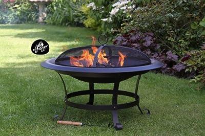 El Fuego Cassio-74 74cm Diameter Cassio Xl Steel Firepit - Black from Gardeco
