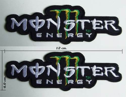 Find Cheap Monster Energy Iron on Patch Motocross Team 2 Pieces.