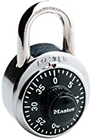 Master Lock 1500D Dial Combination Lock, 1-7/8-inch, Black