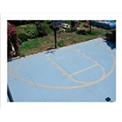 Buy Easy Basketball Court Stencil Kit by Ronan Sports