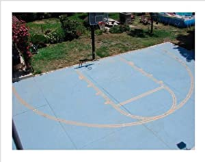 Easy Basketball Court Stencil Kit