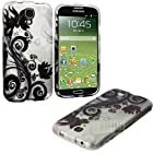 myLife Black + White Flowers and Vines Series (2 Piece Snap On) Hardshell Plates Case for the Samsung Galaxy S4 Fits Models: I9500, I9505, SPH-L720, Galaxy S IV, SGH-I337, SCH-I545, SGH-M919, SCH-R970 and Galaxy S4 LTE-A Touch Phone (Clip Fitted Front and Back Solid Cover Case + Rubberized Tough Armor Skin)