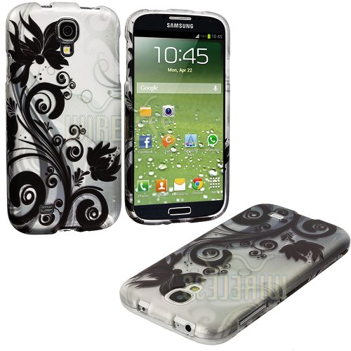 "Mylife Black + White Flowers And Vines Series (2 Piece Snap On) Hardshell Plates Case For The Samsung Galaxy S4 ""Fits Models: I9500, I9505, Sph-L720, Galaxy S Iv, Sgh-I337, Sch-I545, Sgh-M919, Sch-R970 And Galaxy S4 Lte-A Touch Phone"" (Clip Fitted Front A"