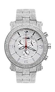 NEW! Aqua Master Men's Power Two-Row Diamond Watch with Diamond-Cut Dial & Full Diamond Case, 7.75 ctw