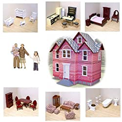 Melissa & Doug Victorian Doll House And Furniture Sets