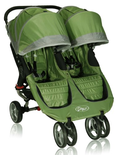 Baby Jogger 2012 City Mini Double Stroller, Green/Gray front-646880