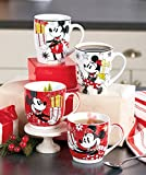 Set of 2 Disney Mickie Minnie Mouse Christmas Holiday Coffee Cups Mugs 15 Ounces