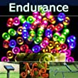 PowerBee � Endurance Deluxe Multi Colour 5 Colour with Pink Solar Fairy Lights 100 Quality Superbright LED's Multi Function Indoor / Outdoor Garden, Party, Tree Lights for ALL YEAR round use including winter