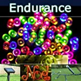 PowerBee � Endurance Deluxe Multi Colour 5 Colour with Pink Solar Fairy Lights 100 Quality Superbright LED's Multi Function Indoor / Outdoor Garden, Party, Tree Lights for ALL YEAR round use including winterby PowerBee Ltd