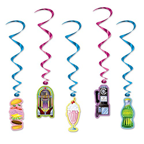 Beistle Soda Shop Whirls, 34 by 3-Feet, Multicolor