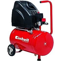 Einhell, Compressore TH-AC 200/24, 1,1 kW, 24 L, potenza uscente 140 l/min, 8 bar, 1 cilindro