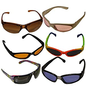 Amazon.com : 6 Pack Classic Party Kids Sunglasses Uv ...