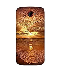 Gold Upside Down HTC One S Case