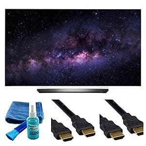 Electronics OLED55C6P CURVE 55-INCH 4K ULTRA HD SMART OLED TV (2016 MODEL) - 4 PIECE SET UP BUNDLE
