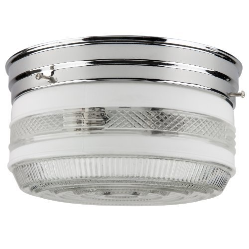 Sunlite 22CR 8-Inch 1-Light Multipurpose Circline Ceiling Fixture, Chrome Finish by Sunlite