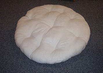Rattan im Trend Coussin pour fauteuil papasan en lin Gris 100 cm