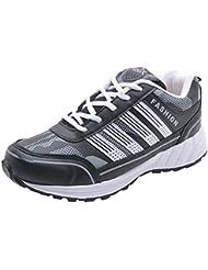 Freedom Daisy Men's Mesh White & Black Sports/Running Shoes
