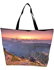 Snoogg Abstract Cloud And Sunset Designer Waterproof Bag Made Of High Strength Nylon