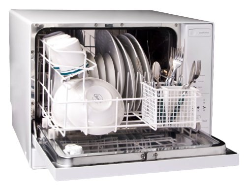 Countertop Dishwasher Hookup : Best Haier HDC1804TW 4-Place-Setting Tabletop Dishwasher on Sales !