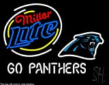 "Miller Lite Carolina Panthers Clear Backing Neon Sign 24"" Tall x 31"" Wide at Amazon.com"