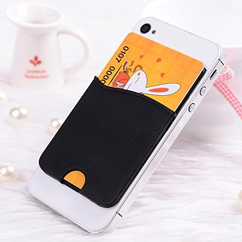 Choize silicone id card credit card holder back adhesive for Iphone business card holder