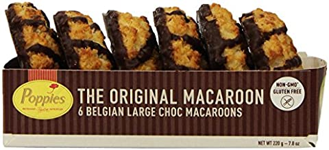 Poppies The Original Chocolate Drizzled Coconut Macaroons 78 Ounce Pack of 12
