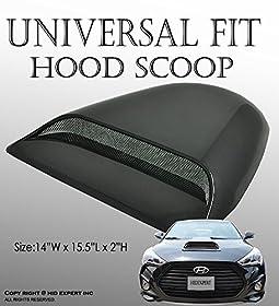 JDM Universal Car Black Hood Scoop Sport Racing AIR FLOW vent Cool FAST SHIP