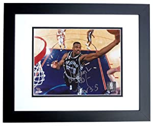 David Robinson Autographed Hand Signed San Antonio Spurs 8x10 Photo - BLACK CUSTOM... by Real+Deal+Memorabilia