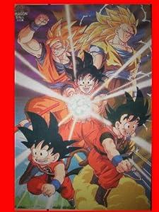 Dragon Ball Z Goku Transformation Saiyan 3 Anime Play Card Game Mat