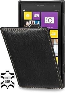 StilGut exklusive Ledertasche UltraSlim für Nokia Lumia 1020, Schwarz