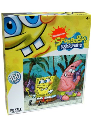 Nickelodeon SpongeBob Squarepants Listening to Sea Shells 100 piece puzzle