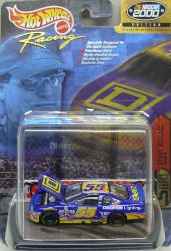Hot Wheels Racing - NASCAR 2000 Edition - Kenny Wallace - No. 55 Cooper Lighting Chevy Monte Carlo - 1:64 Scale Diecast Collectible - 1