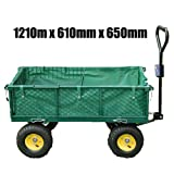FoxHunter Heavy Duty Extra Large Size Giant Garden Trolley 1210mm x 610mm x 650mm 48