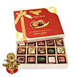 Chocholik Belgium Chocolates - Yummy Treat Of 20pc All Pralines Chocolate Box With Ganesha Idol - Diwali Gifts