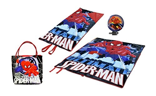 Marvel Spider Man Mini Slumber Tote with Night Light (3 Piece)