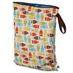 Planet Wise Wet Diaper Bag, Owl, Large