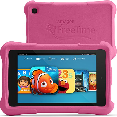 "Fire HD 7 Kids Edition, 7"" HD Display, Wi-Fi, 8 GB, Pink Kid-Proof Case"