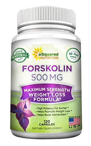 100% Pure Forskolin 500mg Max Strength - 120 Capsules, Forskolin Extract Supplement for Weight Loss Fuel, Coleus Forskohlii Root 20% Forskolin Diet Pills, Belly Buster Fat Burner 2x Slim Trim Lose (Forskoline Extract compare prices)