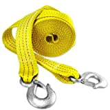 Neiko 20 Ft Heavy Duty 10,000 Lb Tow Strap with Hook