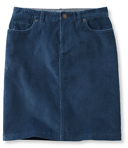 L.L.Bean Women'S Casco Corduroy Skirt Blue 18 Ite