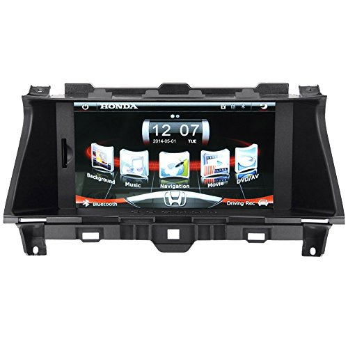 Koolertron Upgraded Car Dvd Player For 2008 2009 2010 2011 2012 America And Australian Honda Accord Multimedia Navigation System With 8-Inch Tft-Lcd Touchscreen Monitor And Bluetooth Function Support1080P Video With Gps Navigation Vehicle Gps With Maps (O