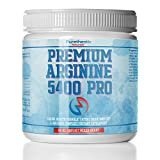 L-Arginine Powder 5400mg - Premium Nitric Oxide Powder - Supports Blood Pressure & Cholesterol - Mixed Berry Flavor - Promotes Natural Energy & Cardiovascular Health - (9.4 oz)