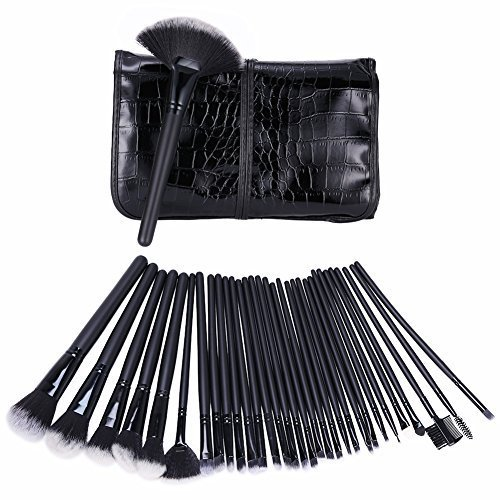 GHB Makeup Brushes Set Professional Cosmetic Brush Set 32 Pieces with Makeup Case by GHB