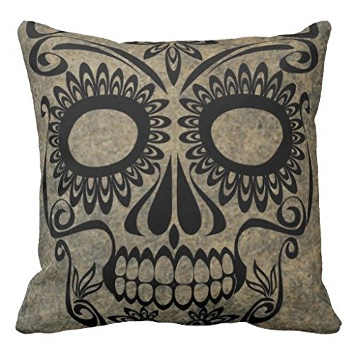 Skull Throw Pillow Cover cuscino 20x20, in